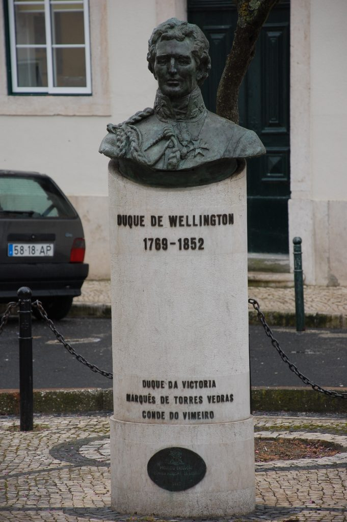 The Duke of Wellington, who led British forces during the Invasões Francesas.