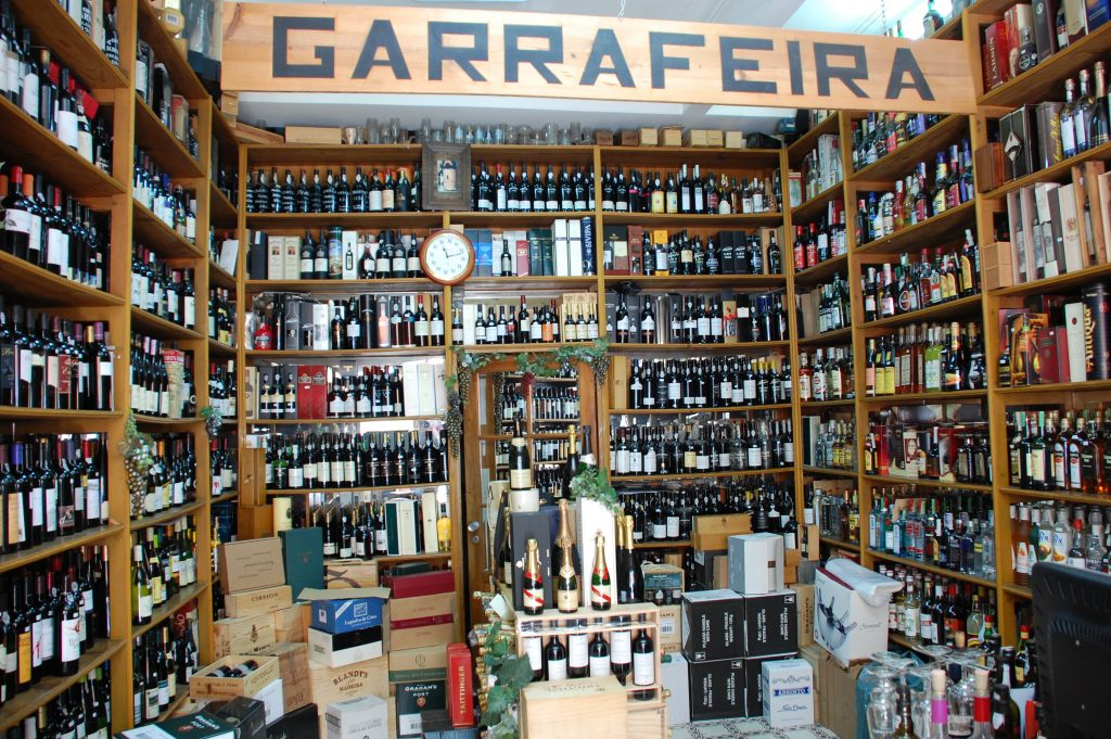 Garrafeira Campo de Ourique. Inside a very nice wine shop at Rua Tomás de Anuncicão, 29-A.
