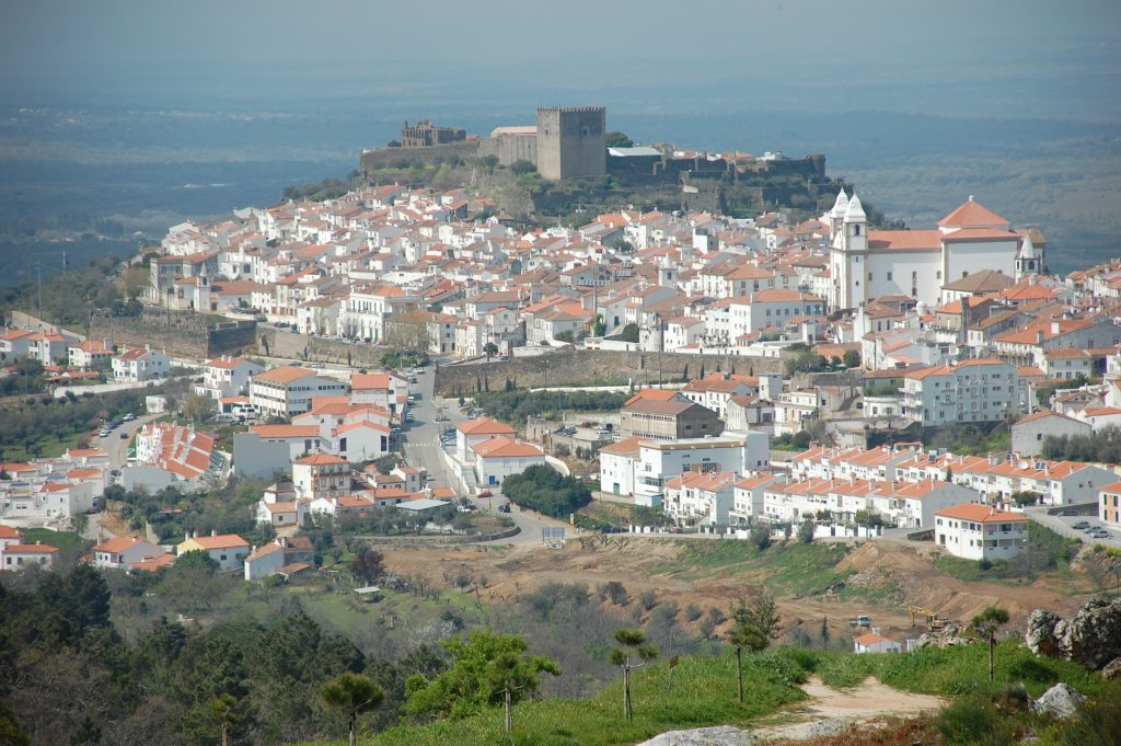 Castelo de Vide. A lovely town in the Serra da São Mamede.  Looking north.