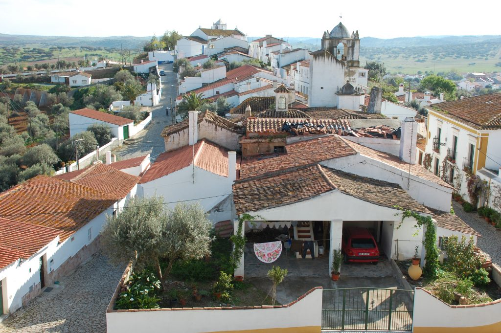 Terena (upper village). Taken from the castelo.  We stayed in the building on the far right.