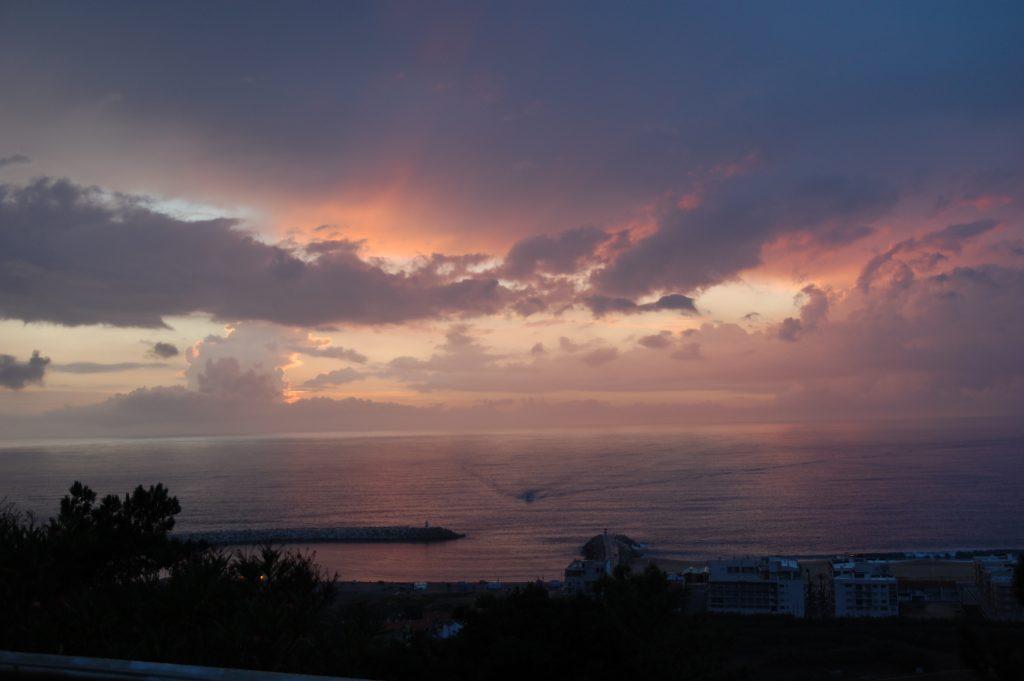 Sunset at Nazaré.