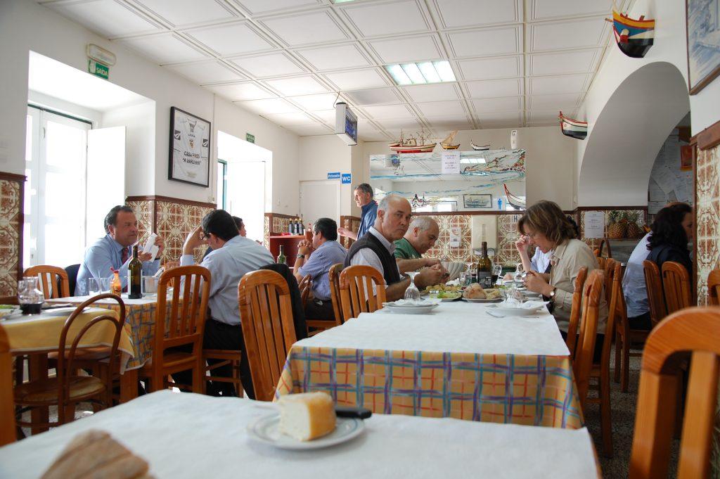 Inside Casa Pires 'A Sardinha'.