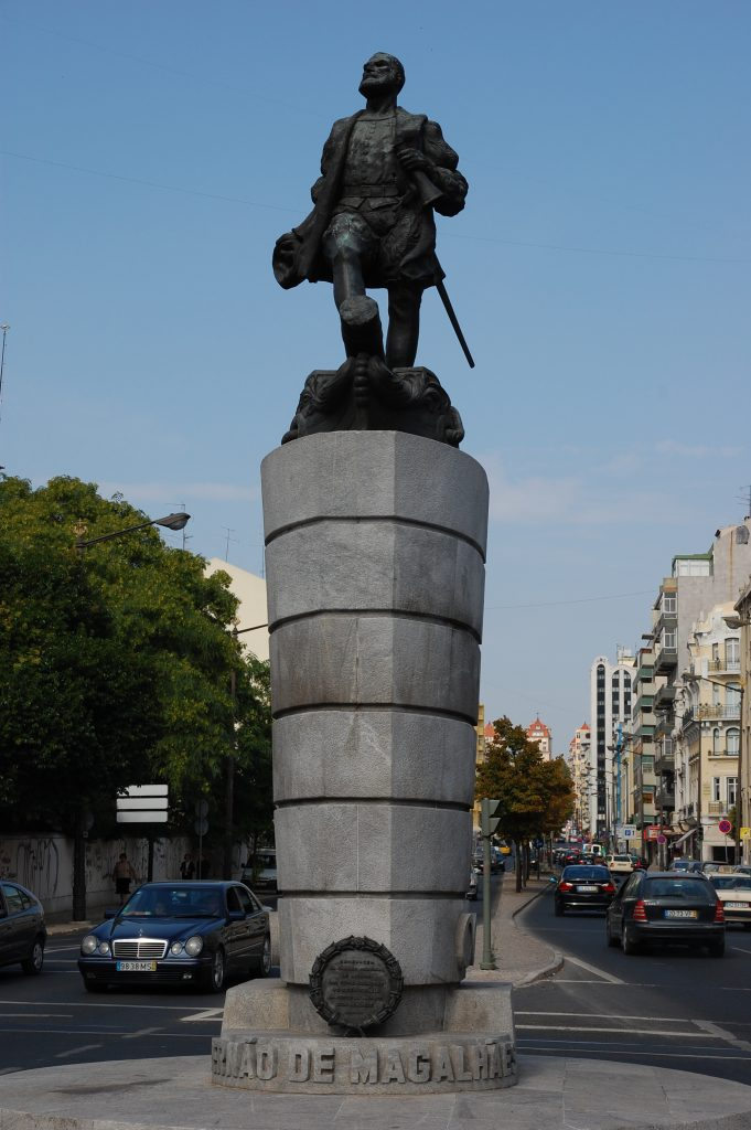 Fernão de Magalhães in the Praça do Chile.  Also known as Ferdinand Magellan.