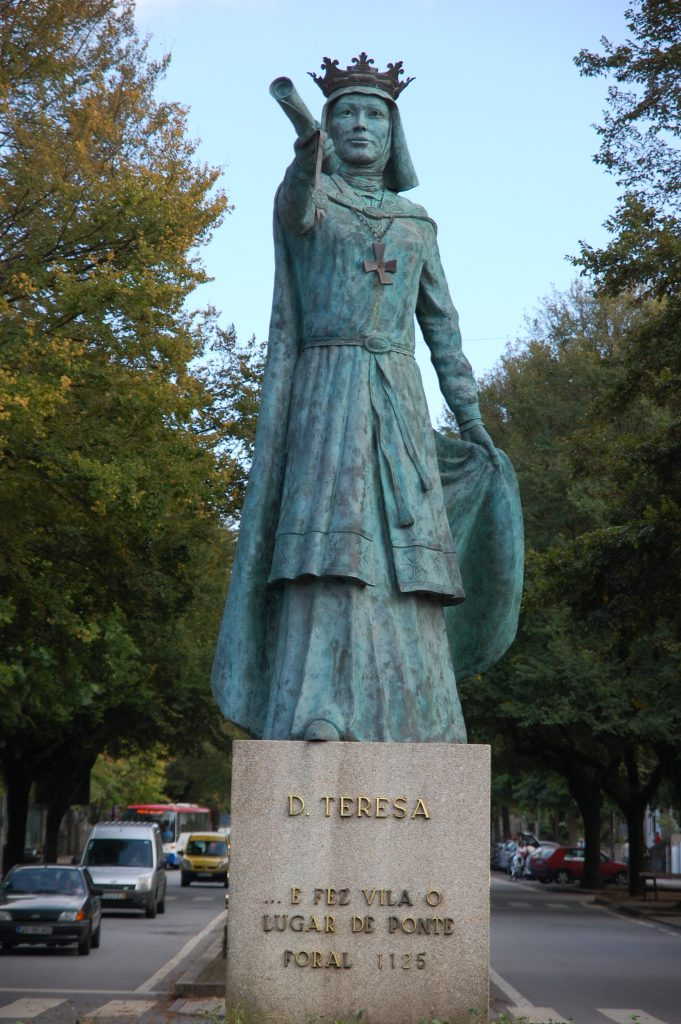 Teresa, Countess  of Portugal, after  signing the town's charter (the oldest in  Portugal) on 4 March 1125.