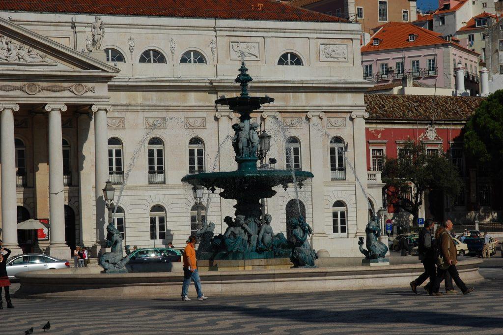 Praça Dom Pedro IV in Rossio.