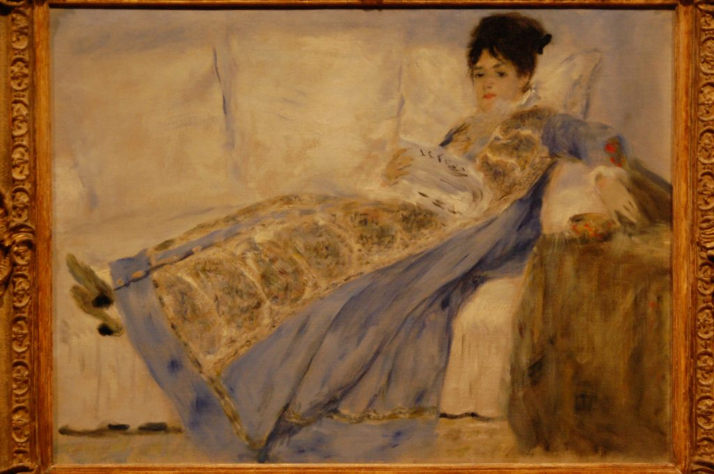 Madame Monet Lying on a Sofa.