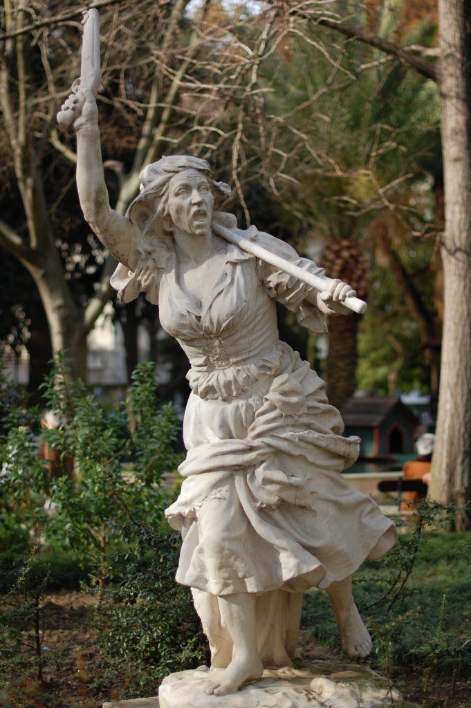 Maria da Fonte. In the lovely Jardim da Parada,  in the heart of Campo  de Ourique.