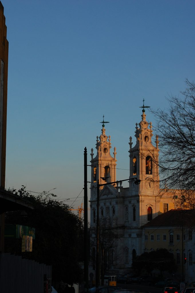 Basílica da Estrela. The vantage point was lousy and the lens wasn't right, but the light here is just tremendous.