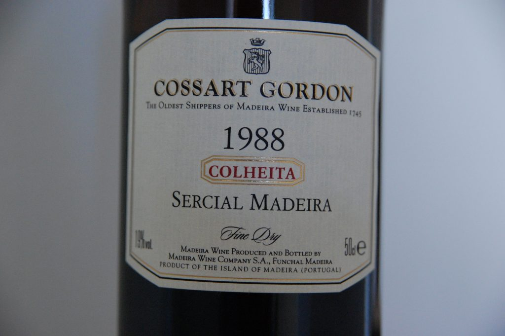 A delightful wine from Madeira that we were able to purchase here.  Sercial (which is one of four varietals used to make Madeira wine) is relatively uncommon.  However, we have developed a taste for it.  And, today we purchased several bottles, one of which is pictured here.