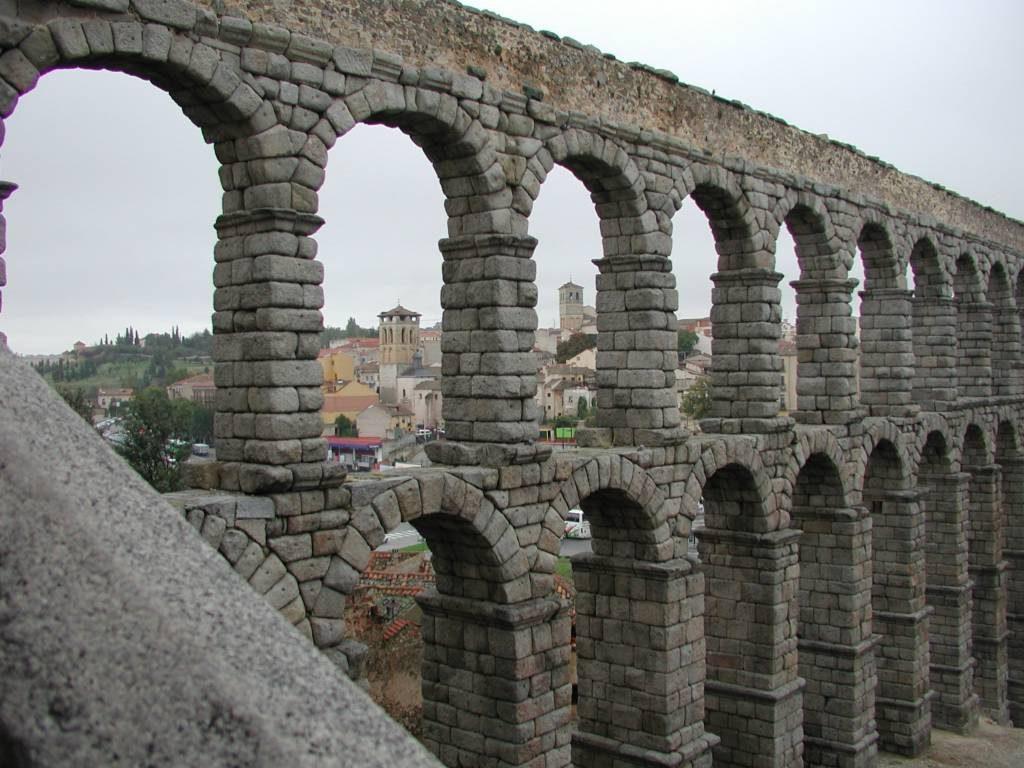 Roman aqueduct in Segovia.
